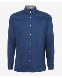 Ted Baker | Green Huckfin Tonal Long Sleeve Shirt for Men | Lyst