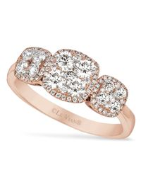 Le Vian | Metallic Diamond Diamond Oval Ring (5/8 Ct. T.W.) In 14K Rose Gold | Lyst