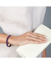 Astley Clarke - Metallic Wide Violet Berry Bracelet - Lyst