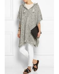 Isabel Marant - Gray Dexton Knitted Poncho - Lyst