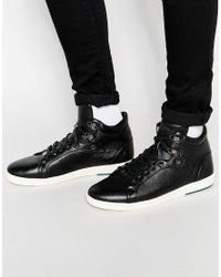 8b1d3a43d2f715 Lyst - Ted Baker Alcaeus Hi Top Trainers in Black for Men
