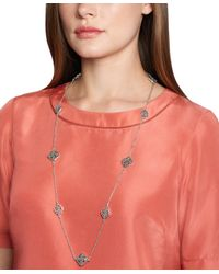 Brooks Brothers - Metallic Silver Filigree Illusion Necklace - Lyst