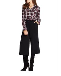 BCBGeneration | Black Cropped Wide Leg Pants | Lyst