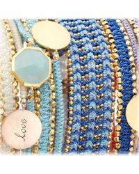 Astley Clarke   Blue Milky Aqua Quartz Oval Stilla Bracelet   Lyst