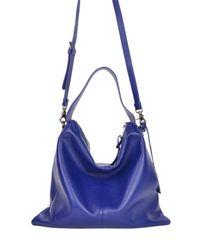 Badgley Mischka | Blue Claudia Soft Pebble Hobo Handbag | Lyst