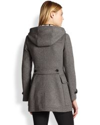 Burberry Brit - Gray Blackwell Toggle Coat - Lyst