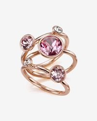 Ted Baker | Pink Jewel Cluster Ring | Lyst