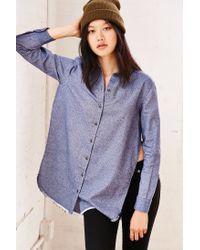 BDG | Blue Meyer Shredded Flannel Shirt | Lyst