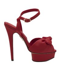 Charlotte Olympia   Red Serena Sandal   Lyst