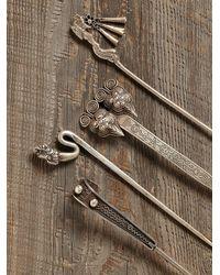 Free People - Metallic Vintage Decorative Hair Pins - Lyst