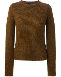 Stills - Brown Ribbed Sweater - Lyst