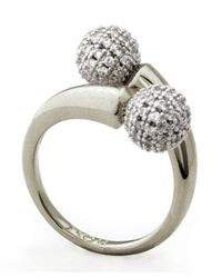 Noir Jewelry | Metallic Dee Pave Ring | Lyst