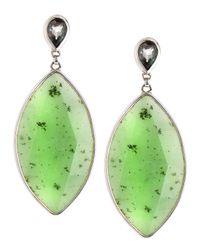 Stephen Dweck - Green Jade Marquise Pear Earrings - Lyst