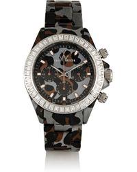 Toy Watch - Gray Chronograph Leopard-Print Plasteramic Watch - Lyst