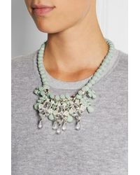EK Thongprasert - Green Ecarte Silver-Plated, Silicone And Crystal Necklace - Lyst