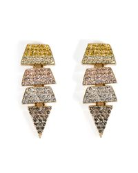 Eddie Borgo | Metallic Gold-plated Crystal Encrusted Earrings - Gold | Lyst