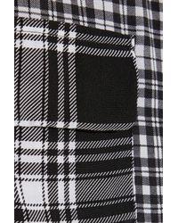 Equipment - Black Plaid Patch Pockets Shirt - Lyst