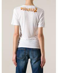 DSquared² - White Giraffe Print T-Shirt - Lyst