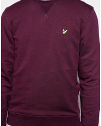 Lyle & Scott - Purple Sweatshirt With Crew Neck for Men - Lyst