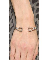 Rebecca Minkoff - Metallic Open Blade Hinge Cuff Bracelet - Crystal - Lyst