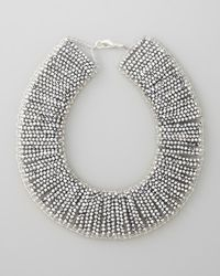 Panacea | Metallic Beaded Collar Necklace | Lyst