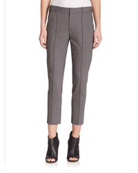 VINCE | Gray Pintucked Stretch Wool Pants | Lyst