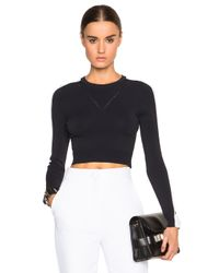 Opening Ceremony | Black Cut Out Cropped Top | Lyst
