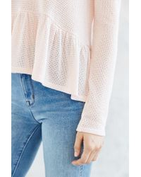 Kimchi Blue - Natural High/low Babydoll Sweater - Lyst