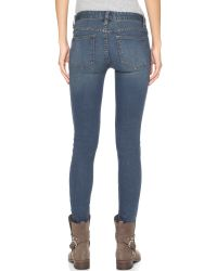 Free People | Blue Destroyed Jeans - Patsy | Lyst