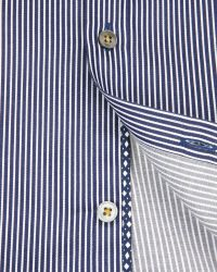 Ted Baker - Blue Verticl Satin Stripe Shirt for Men - Lyst