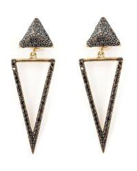 Ileana Makri | Metallic 'bermuda Triangle' Diamond Earrings | Lyst