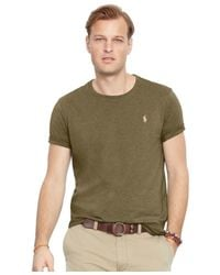 Polo Ralph Lauren | Green Big And Tall Classic-fit Jersey Crewneck for Men | Lyst