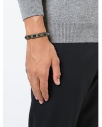 Valentino - Brown 'rockstud' Bracelet for Men - Lyst