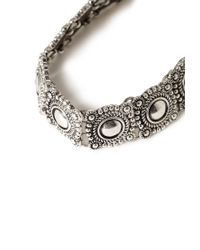 Forever 21 - Metallic Etched Medallion Choker - Lyst