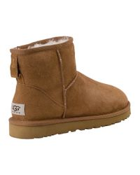 UGG - Brown Classic Mini Boot Chestnut Suede - Lyst