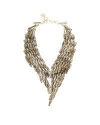 BCBGMAXAZRIA | Metallic Stone Cascade Necklace | Lyst
