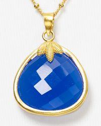 Coralia Leets - Blue Maple Leaf Pendant Necklace 18 - Lyst
