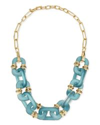 Alexis Bittar - Blue Lucite Double-sided Link Station Necklace - Lyst