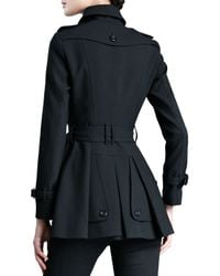 Burberry - Black Short Tailored Trenchcoat - Lyst