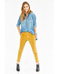 BDG - Orange Corduroy Slim-fit Pant - Lyst
