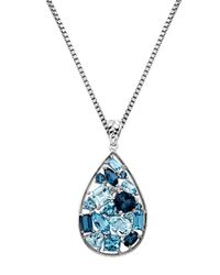 Lord & Taylor | Sterling Silver Multi-blue Topaz Pendant | Lyst