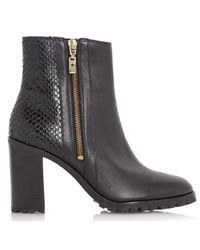 Dune | Black Prett Cleated Sole Ankle Boot | Lyst