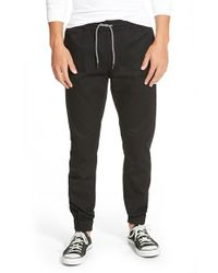 Volcom | Black Slim Fit Jogger Pants for Men | Lyst