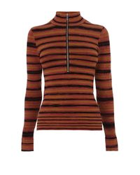 Karen Millen | Multicolor Stripe Roll Neck Jumper | Lyst