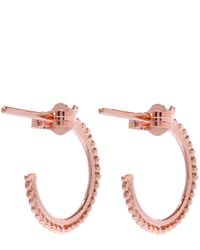 Alex Monroe | Pink Small Rose Gold-plated Granulated Wire Ivy Leaf Hoop Earrings | Lyst