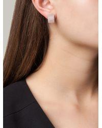 Vita Fede - Metallic Square Pearl Earrings - Lyst