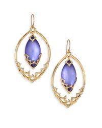 Alexis Bittar - Blue Imperial Lucite & Crystal Georgian Lace Orbiting Wire Drop Earrings - Lyst