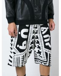 KTZ - Black Towelling Harem Shorts for Men - Lyst