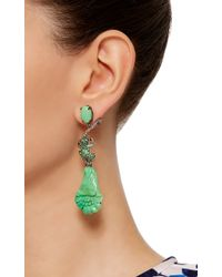 Lydia Courteille - Green One Of A Kind Amazonia Earrings - Lyst