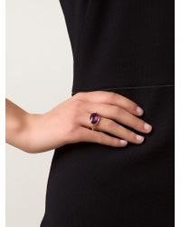 Marie-hélène De Taillac - Metallic Oval Amethyst Ring - Lyst